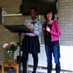 Yvonne Ellis speaking at Woodmensterne womens' breakfast meeting