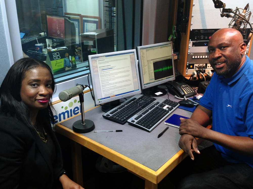 Premier Gospel Radio interview with presenter Yinka for 'living with series'